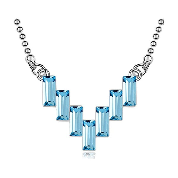 Náhrdelník s modrými krištáľmi Swarovski Elements Crystals Iceland