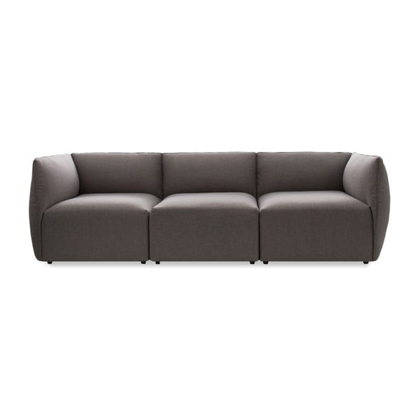 Szara 3-osobowa sofa modułowa Vivonita Cube