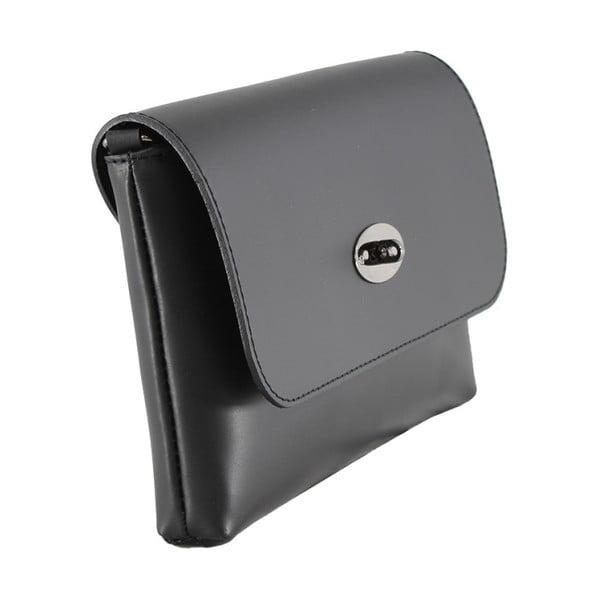 Černá kožená kabelka Chicca Borse Penny