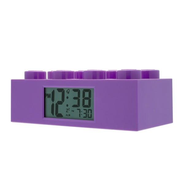Ceas deșteptător LEGO® Brick, mov