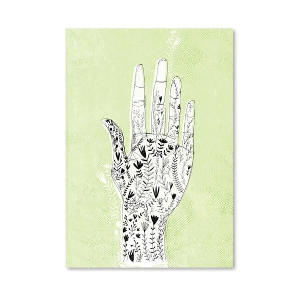 Plakát Floral Hand, 30x42 cm