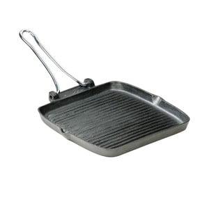 Tigaie grill cu mâner pliant Typhoon Solutions, 24,5x26,5cm