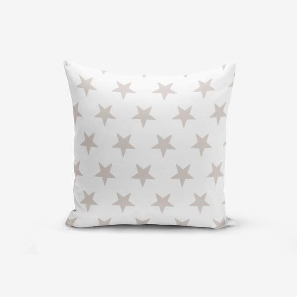 Față de pernă cu amestec din bumbac Minimalist Cushion Covers Light Grey Star Modern, 45 x 45 cm