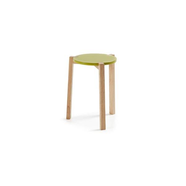 Zelený odkladací stolík La Forma Elroy