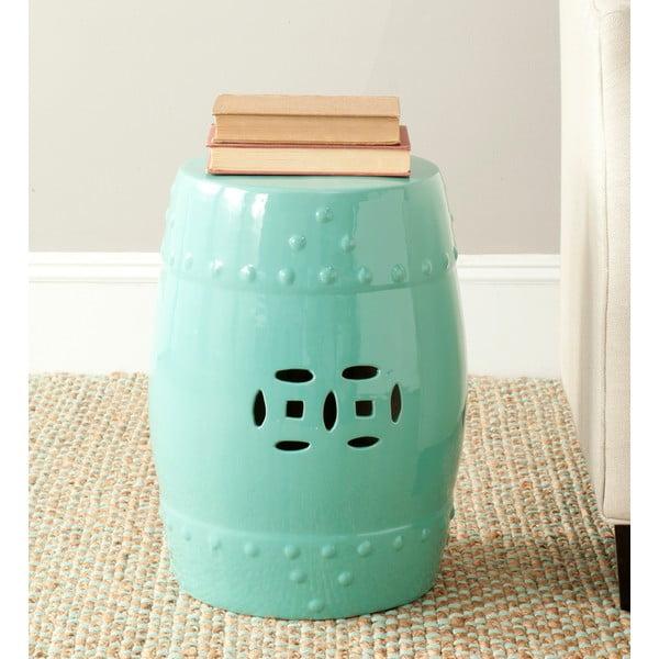 Tyrkysový keramický stolek Safavieh Mali