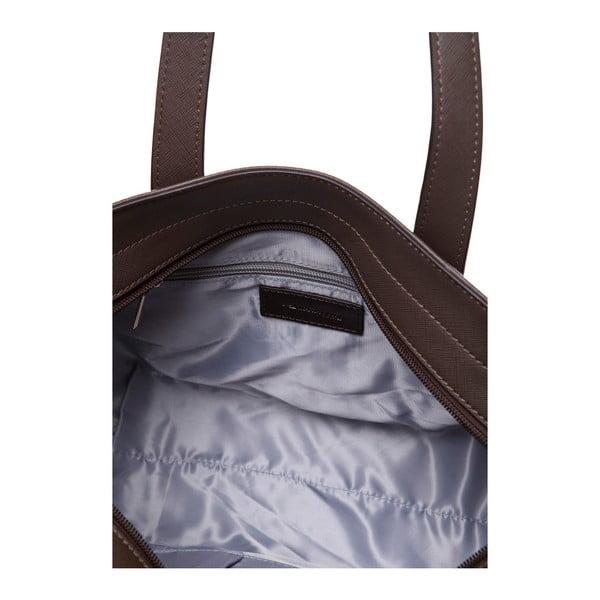 Kožená kabelka přes rameno Marta Ponti Pocket Deux, světle hnědá/tmavě hnědá
