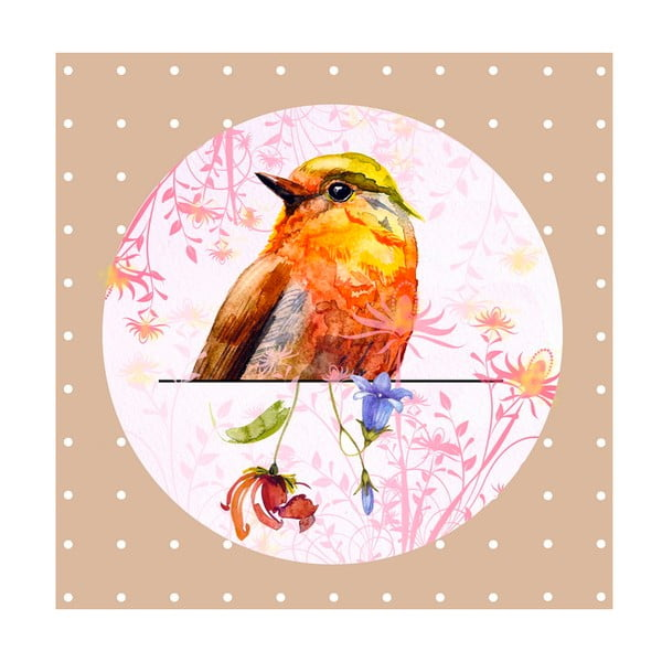 Obrázek Ewax Orange Bird, 28 x 28 cm