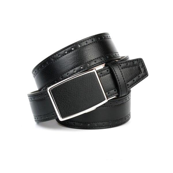 Unisex kožený pásek 18Т10H Black, 90 cm