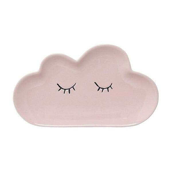 Farfurie din ceramică pentru copii Bloomingville Smilla Cloud, roz