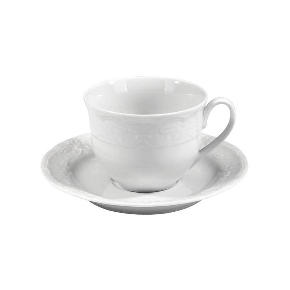 Sada 6 porcelánových šálků s podšálky Kutahya Concept, 50 ml