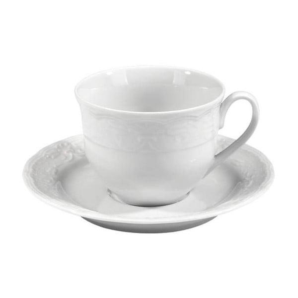 Zestaw 6 filiżanek ze spodkiem z białej porcelany Kutahya Concept, 50 ml
