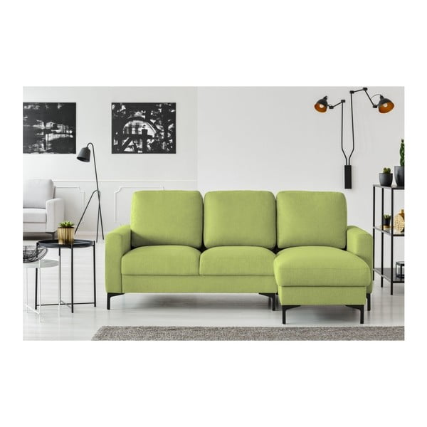 Olivově zelená rohová pohovka Cosmopolitan design Atlanta, pravý roh