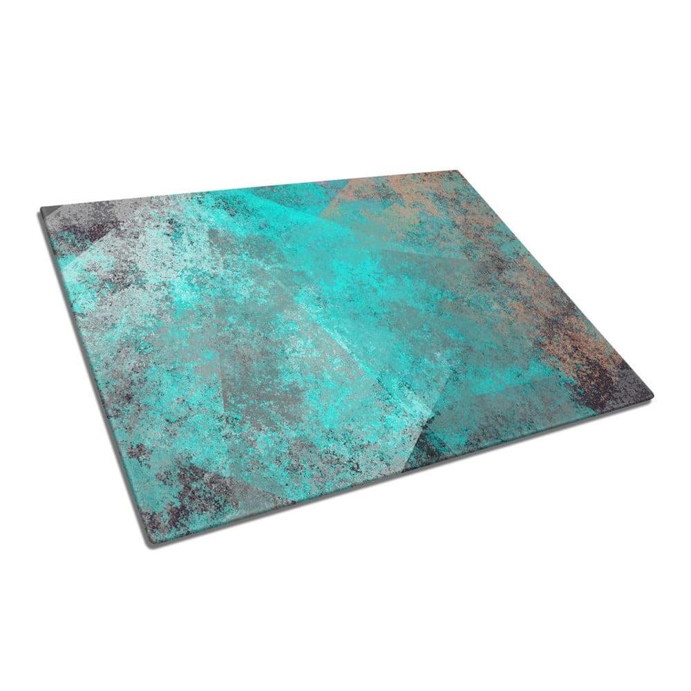 Skleněné prkénko na krájení Insigne Turquoise