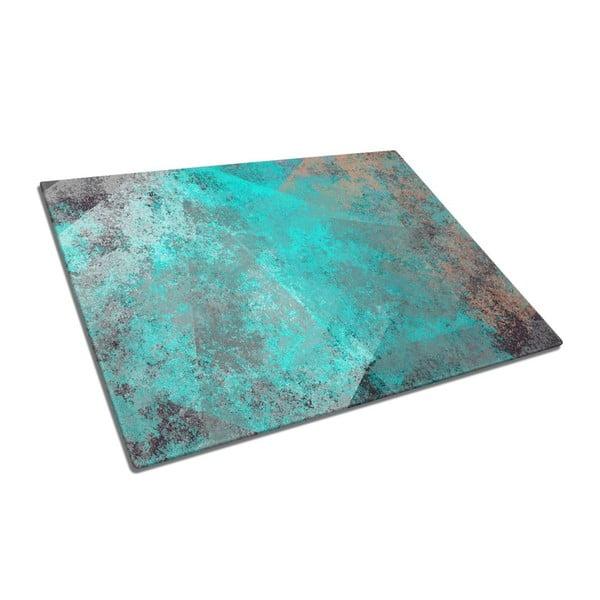 Turquoise üveg vágódeszka - Insigne