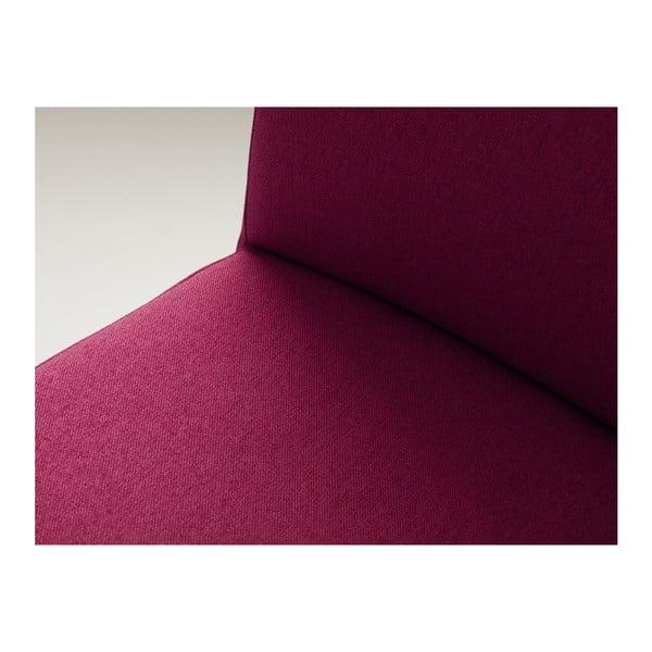 Fuchsiově růžová barová židle s přírodními nohami Custom Form Wilton
