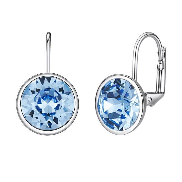 Glass Stone Blue fülbevaló Swarovski Elements kristályokkal - Saint Francis Crystals