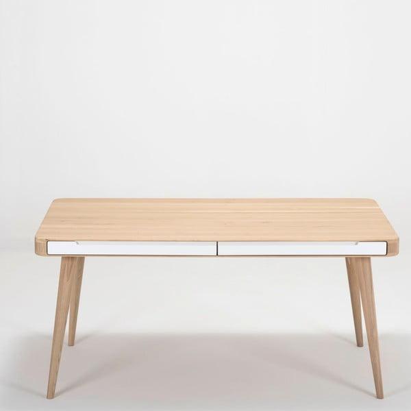 Jídelní stůl z dubového dřeva Gazzda Ena Two, 160x90x75cm