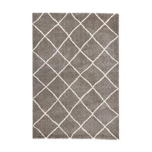 Hnědý koberec Mint Rugs Grid, 80x150cm