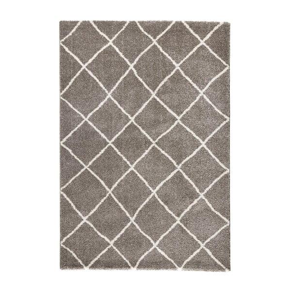Hnědý koberec Mint Rugs Grid, 120x170cm