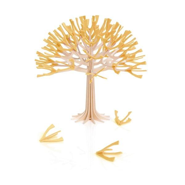 Skládací dekorace Lovi Season Tree Warm Yellow, 22 cm