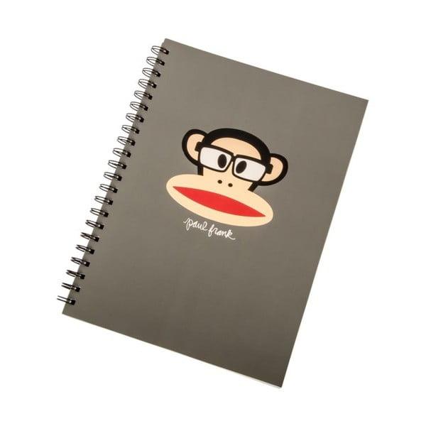 Zápisník Paul Frank Grey Monkey