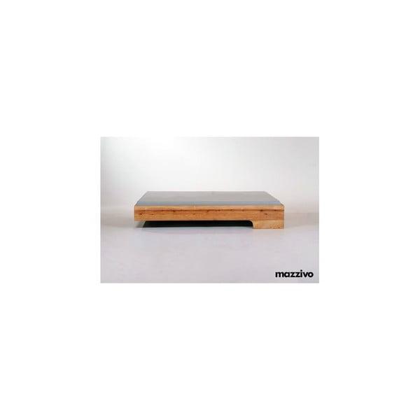 Vznášející se postel z olšového dřeva Mazzivo Loop, 200x200cm