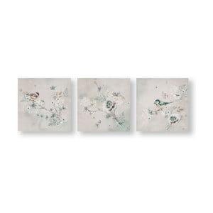 Sada 3 obrazů Graham & Brown Beautiful Birds Trio, 30 x 30 cm