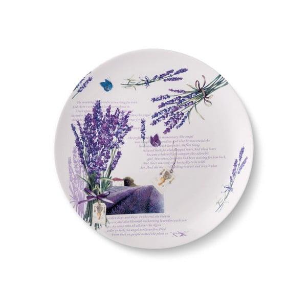 Sada 6 porcelánových talířů Levandule, 24 cm