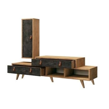 Set masă TV cu raft de perete Joseph