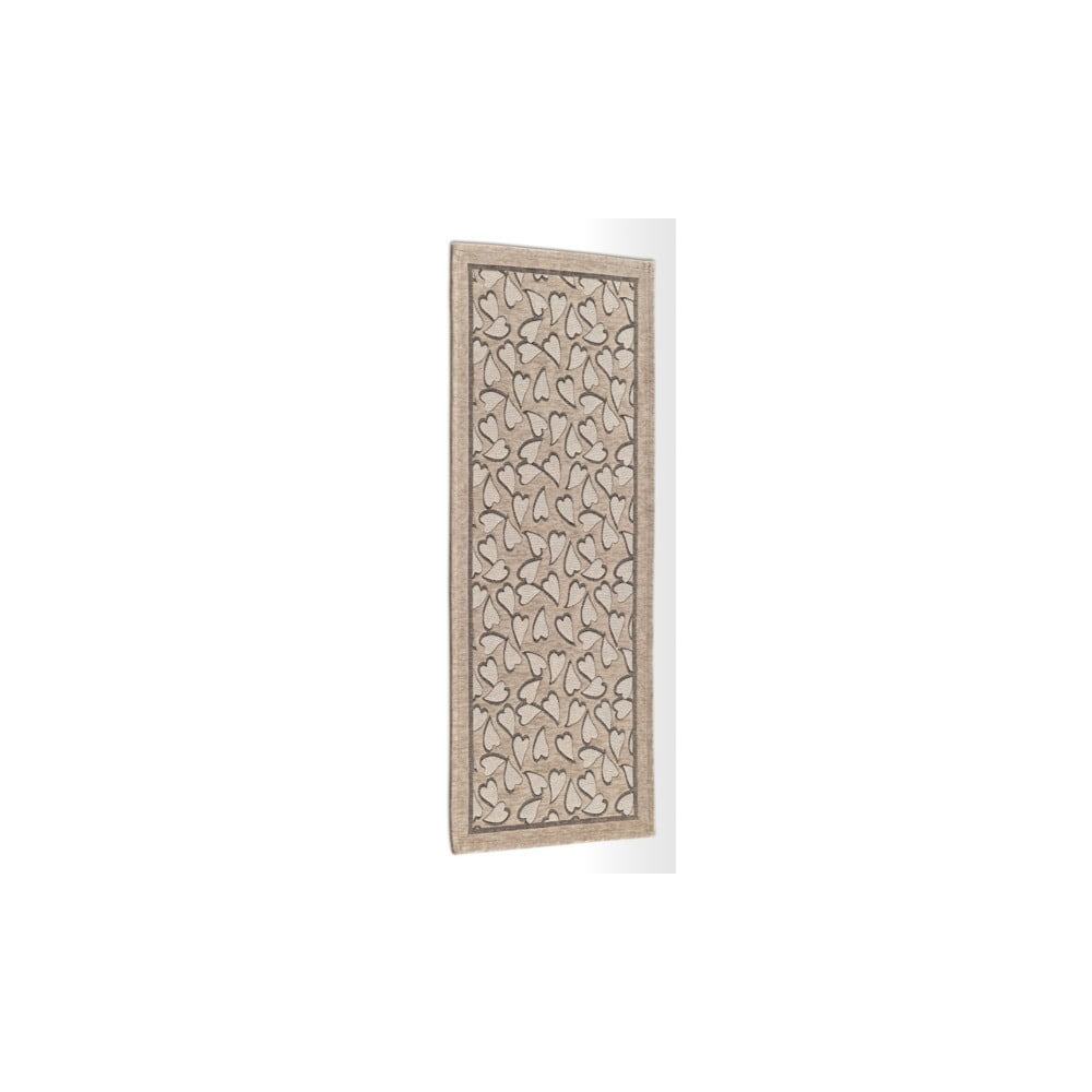 Béžový vysoce odolný kuchyňský koberec Webtappeti Corazon Tortora, 55 x 240 cm