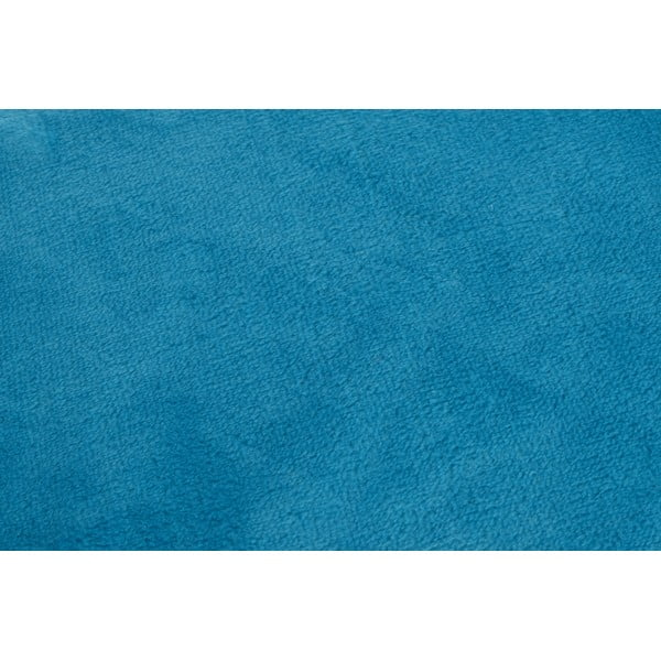 Světle modrá deka Gözze Memphis, 180x220cm