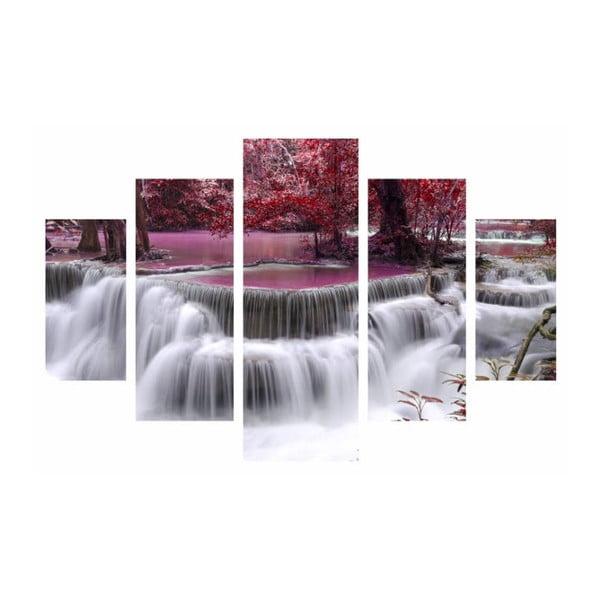 Tablou din mai multe piese Waterfall, 92 x 56 cm