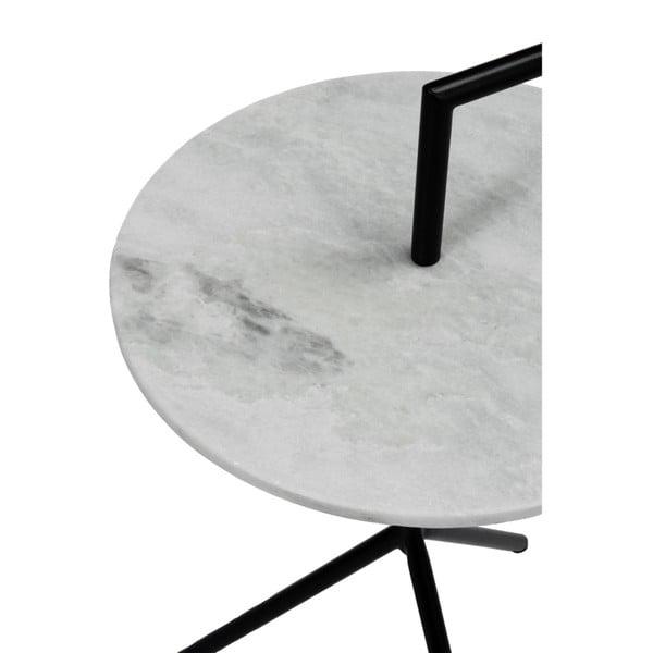 Odkládací stolek J-Line Marble Met, ⌀38cm