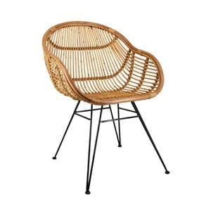 Židle z ratanu a železa Moycor Emilia