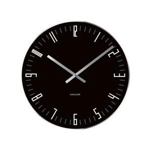 Ceas de perete Present Time Slim, negru