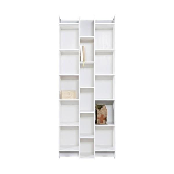 Bílá knihovna WOOOD Grenen, základní modul