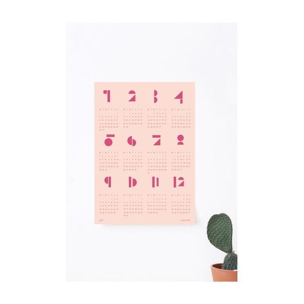 Nástěnný kalendář SNUG.Toy Blocks 2017, růžový