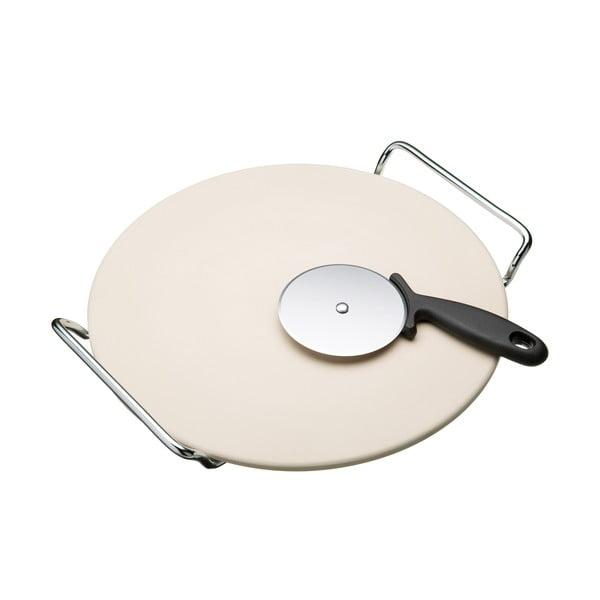 Tác s kráječem na pizzu Kitchen Craft Italia, 32 cm
