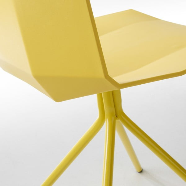 Žlutá jídelní židle La Forma Pixel