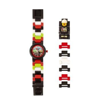 Ceas pentru copii cu figurină LEGO® City Firefighter de la LEGO®