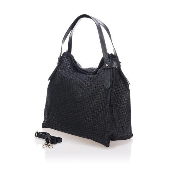 Černá kožená kabelka Markese Giacinto