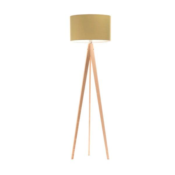 Stojací lampa Artist Mint/Birch, 125x42 cm