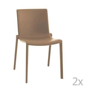 Sada 2 béžových zahradních židlí Resol Kat