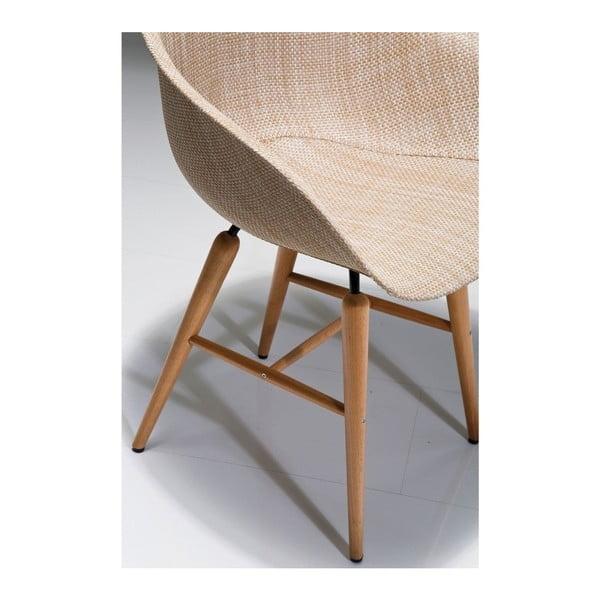 Sada 4 béžových jídelních židlí Kare Design Forum Armrest