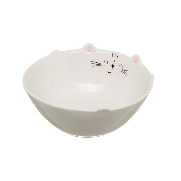 Bol din porțelan Unimasa Kitty, ⌀ 16,1 cm, alb