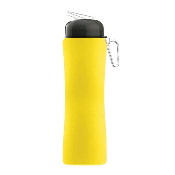 Revoluční sportovní lahev Sili-Squeeze, žlutá, 650 ml