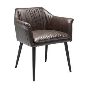 Tmavě hnědá jídelní židle Kare Design Diner