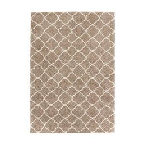 Hnědý koberec Mint Rugs Grace Brown Cream, 80x150cm
