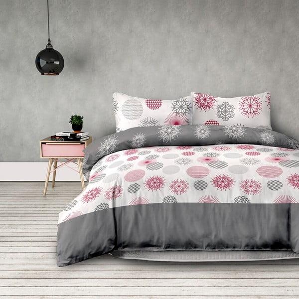 Lenjerie de pat din flanel AmeliaHome Flakes, 135 x 200 cm