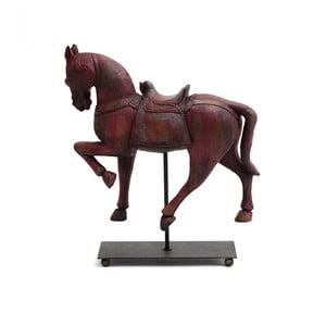 Cal decorativ din lemn Ego Dekor, roșu